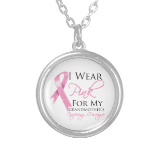 Grandmother Inspiring Courage Breast Cancer Necklaces