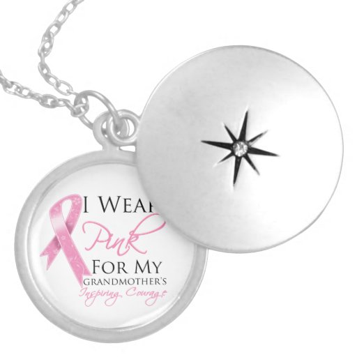 Grandmother Inspiring Courage Breast Cancer Pendant