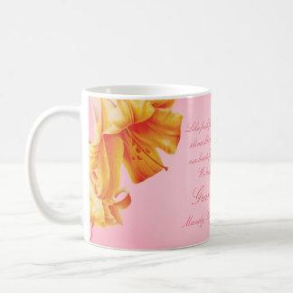 Grandmother lilies floral fine art gift mug