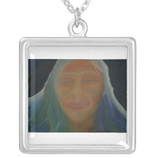 Grandmother Mountain Square Pendant Necklace