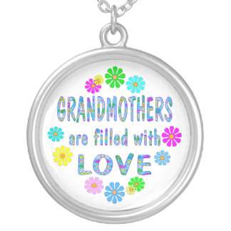 Grandmother Round Pendant Necklace
