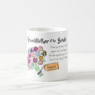 GrandMother of Bride Personalized ThankYou Message Coffee Mug