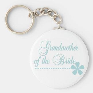 Grandmother of Bride Teal Elegance Basic Round Button Key Ring