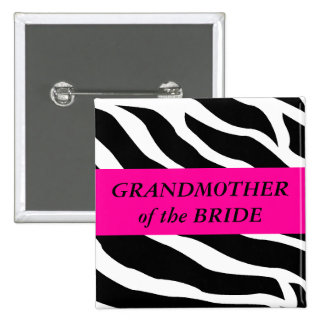 Grandmother Of The Bride 15 Cm Square Badge