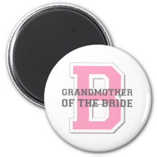 Grandmother of the Bride Cheer 6 Cm Round Magnet
