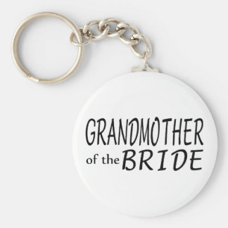 Grandmother Of The Bride Basic Round Button Key Ring