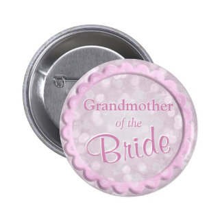 Grandmother of the Bride Pink Confetti 6 Cm Round Badge