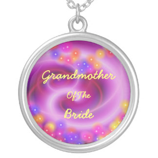 Grandmother Of The Bride Swirly Heart Necklace