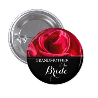 Grandmother of The Bride Wedding Red Roses 3 Cm Round Badge