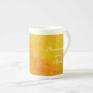 Grandmother of the Bride Wildflower orange Tea Cup
