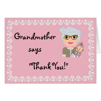 Grandmother Shower Gift Thank You Card