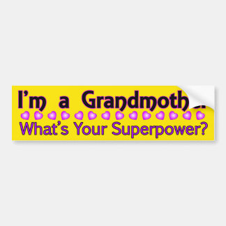 Grandmother Superpower Bumper Sticker