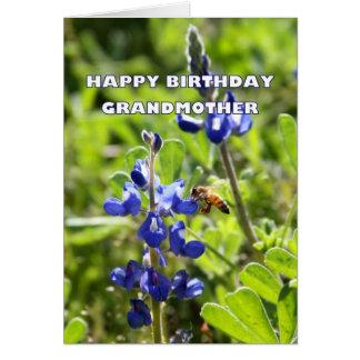 Grandmother Texas Bluebonnet Happy Birthday Card