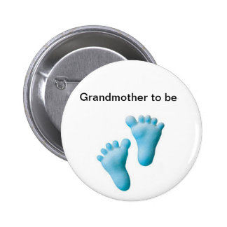 Grandmother to be 6 cm round badge