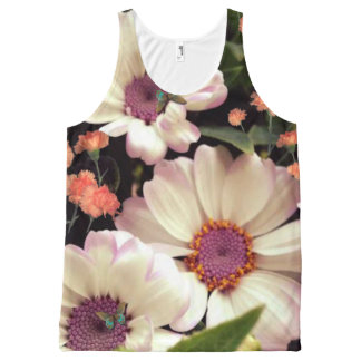 Grandmother's Flower Garden. All-Over Print Singlet