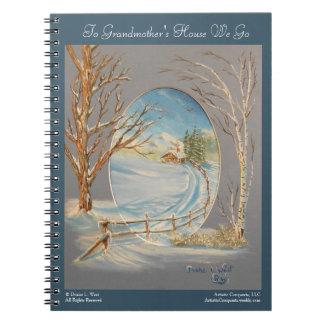 Grandmother's House, Winter Landscape Art Notebook