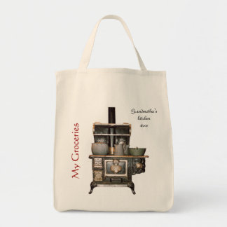 Grandmother's Kitchen Stove Grocery Tote