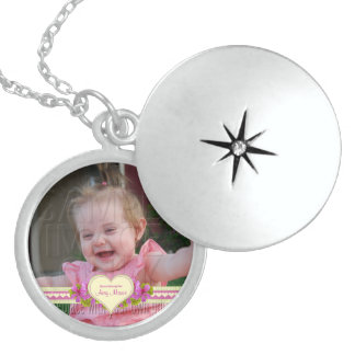 Grandmother's Love Photo Round Locket Necklace
