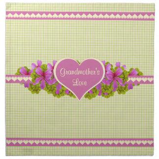 Grandmother's Love Pinks Printed Napkins