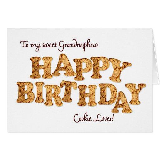 Grandnephew, a Birthday card for a cookie lover