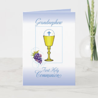 Grandnephew First Communion, Chalice with Host Card