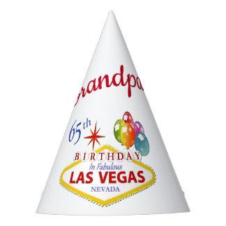 Grandpa 65th Las Vegas Birthday Party Hat