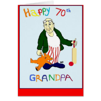 GRANDPA 70TH BIRTHDAY CARD