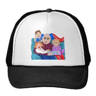 Grandpa and grandchildren hats