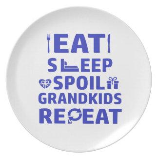 Grandpa and Grandma Plate