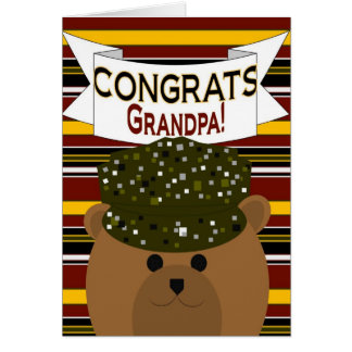 Grandpa - Army Soldier Congrats! Card