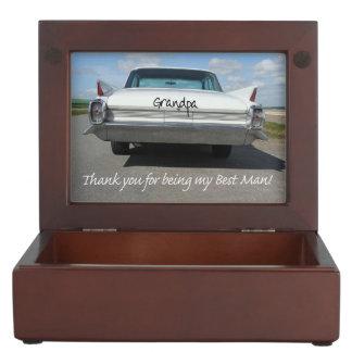 Grandpa best man thank you keepsake boxes