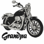 Grandpa Biker Embroidered Shirt