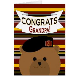 Grandpa - Congrats Army Active Duty Greeting Card