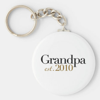 Grandpa Est 2010 Basic Round Button Key Ring