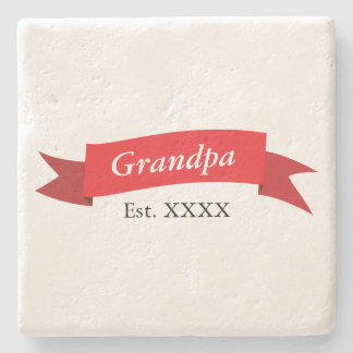 Grandpa Est. XXXX Stone Coaster