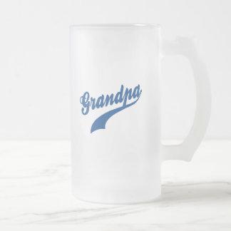 Grandpa Gift Frosted Glass Mug