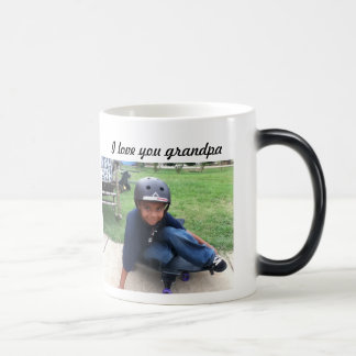 Grandpa i love u mug add your picture