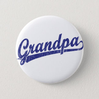 Grandpa in blue 6 cm round badge