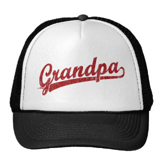 Grandpa in red trucker hats