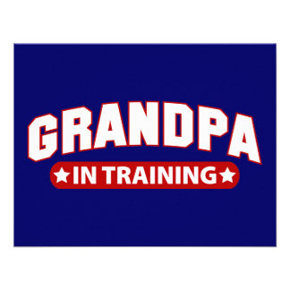 Grandpa In Training Custom Announcements