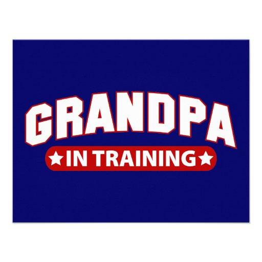 Grandpa In Training Custom Announcements