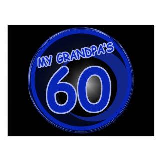 Grandpa is 60 postcard