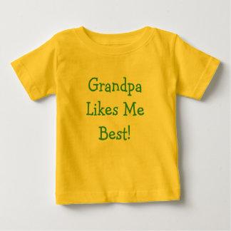 Grandpa Likes Me Best! Baby T-Shirt