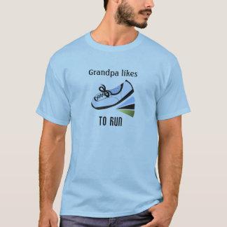 Grandpa Likes To Run T-Shirt