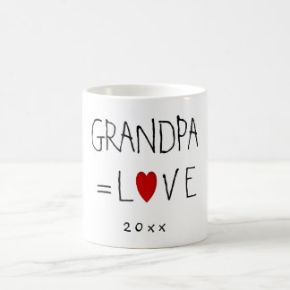 GRANDPA=LOVE (Or Any Name) Valentines Gift Mugs