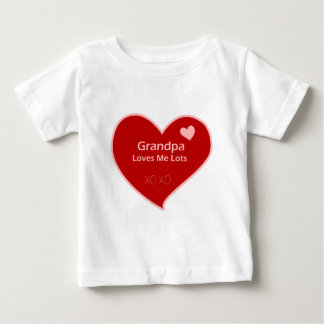 Grandpa Loves Me Lots Baby T-Shirt