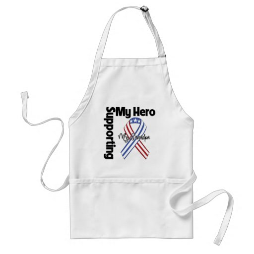 Grandpa - Military Supporting My Hero Aprons
