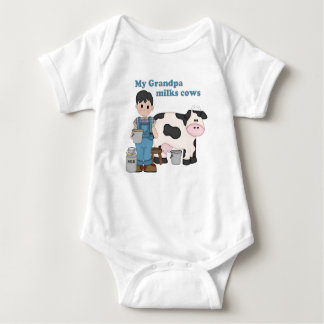 Grandpa Milks Cows Baby Bodysuit