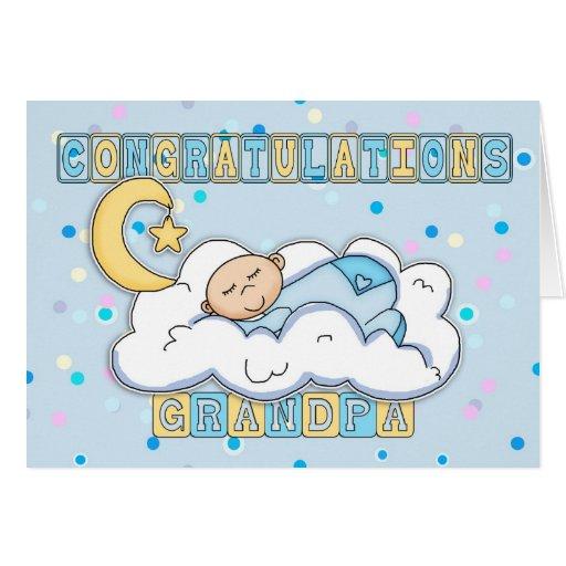 Grandpa New Baby Boy Congratulations Cards