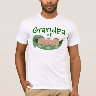 Grandpa of Mixed Triplets with Darker Skin T-Shirt